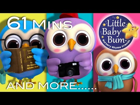 Thumbnail: A Wise Old Owl | Plus Lots More Nursery Rhymes | 61 Minutes Compilation from LittleBabyBum!