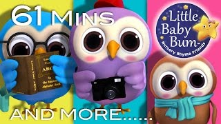 Repeat youtube video A Wise Old Owl | Plus Lots More Nursery Rhymes | 61 Minutes Compilation from LittleBabyBum!