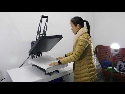 U型套成衣二代高压机40X50CM英文  heat press machine sublimation machine