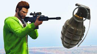 GRENADES VS SHOOTERS! (GTA 5 Funny Moments)