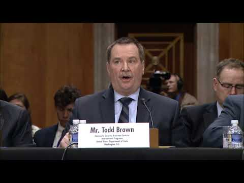 Assistant Director Brown, Diplomatic Security Testifies on Attacks on U.S. Diplomats in Cuba