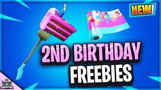*NEW* FORTNITE 2ND BIRTHDAY EVENT PICKAXE & CAMMO TO UNLOCK VIA CHALLENGES... CAKE LOCATIONS