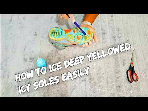 How To Ice Deep Yellowed Icy Soles EASILY !