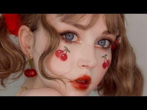 cherry girl • peko inspired makeup tutorial • jolse unboxing - 동영상
