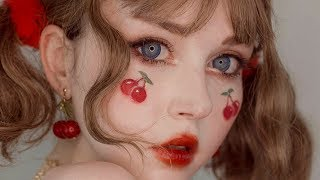 cherry girl • peko inspired makeup tutorial • jolse unboxing