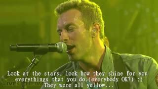 Download lagu Coldplay Yellow Live LYRICS MP3
