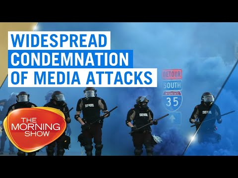 Widespread condemnation of attacks on journalists by US police | 7NEWS