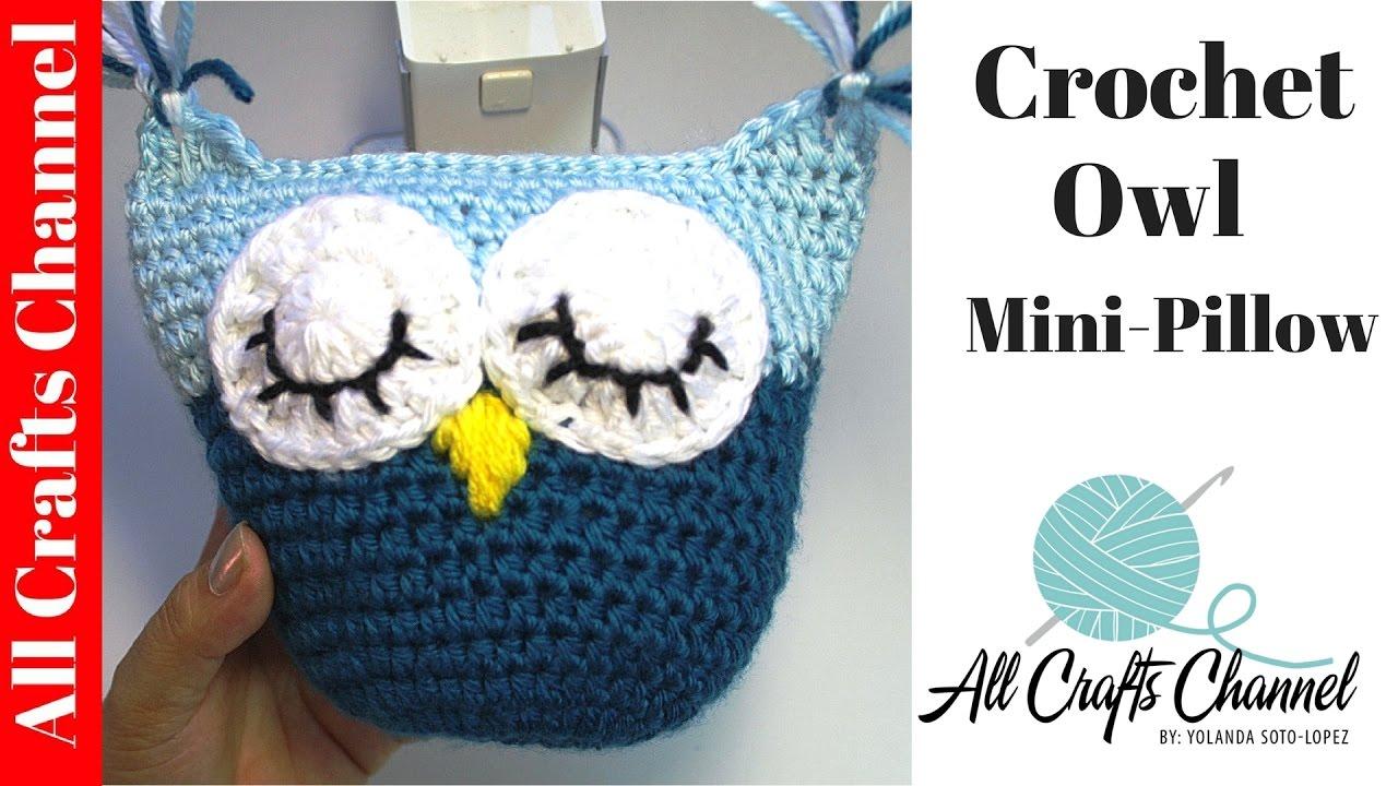 How to Crochet owl pillow - subtitulos en Espanol - YouTube
