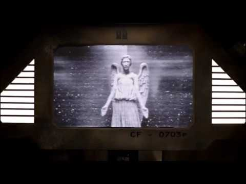 Weeping Angel Security Footage on TV Screen with Mrs Smith ...