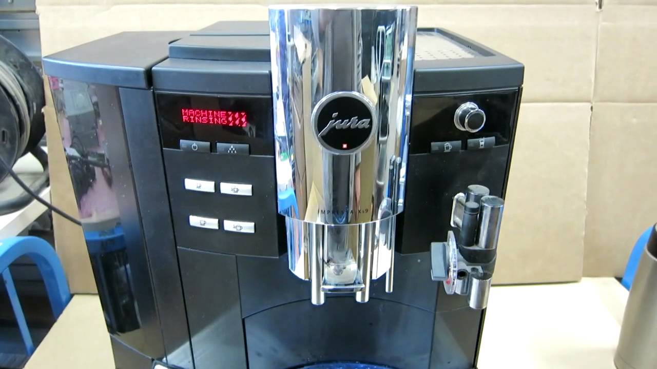 jura impressa xs9 classic espresso cappuccino latte bean to cup coffee machine youtube. Black Bedroom Furniture Sets. Home Design Ideas