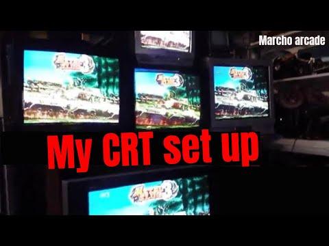 PVM CRT's Working Together - Trinitron - Quintrix Sr - Pvm Panasonic   - Marcho Arcade
