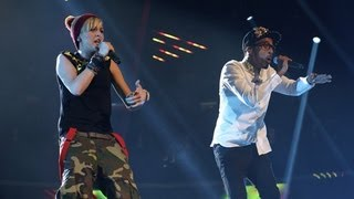 MK1 sing a Crystal Waters / Tinie Tempah medley - Live Week 3 - The X Factor UK 2012