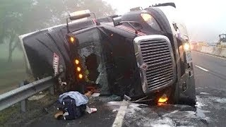 IDIOT TRUCK FAILS Caught on Dashcam! Best of Ultimate Retarded Drivers Fails JULY 2017