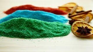 Цветной сахар / Renkli Şeker Yapılışı / How to make Colorful Sugar