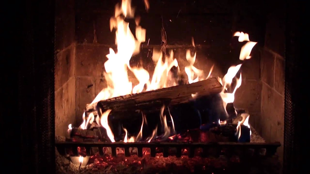 cozy crackling fire fireplace warms the spirit in winter youtube