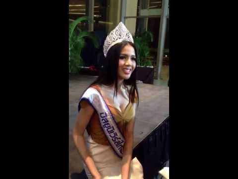 Miss Universe Thailand 2013 interviewing in English.