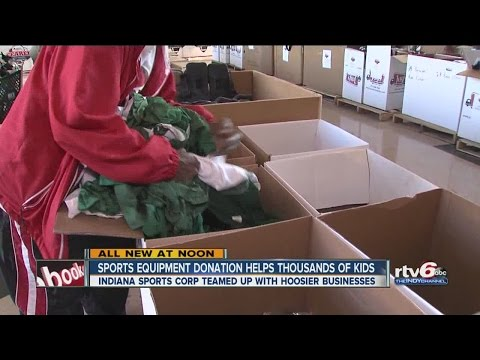 Sports Equipment Donation Helps Thousands Of Kids