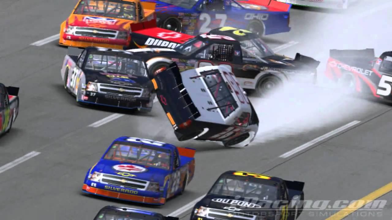 iRacing Big Crash at Talladega - YouTube