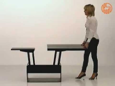 Tavolino Trasformabile In Tavolo Da Pranzo.Orfeo Tavolino Trasformabile In Tavolo Da Pranzo Youtube