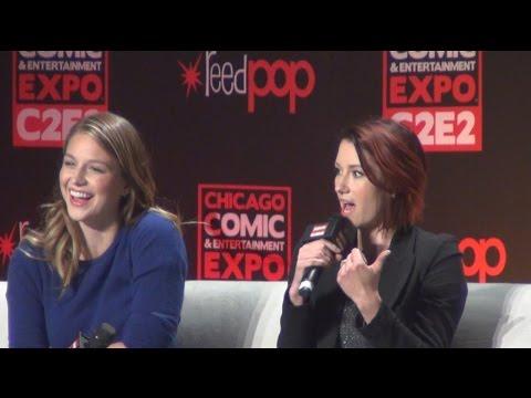 C2E2 2016 Melissa Benoist and Chyler Leigh