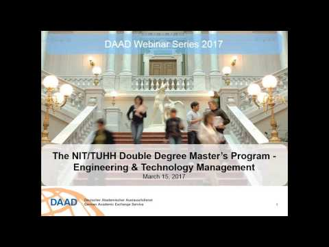 Webinar: The NIT TUHH Double Degree Master's Program Engineering Technology Man