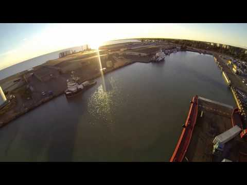 "Anchor handling tug ""Viking"" Baltic sea. Quadcopter including Gopro went to sea!"