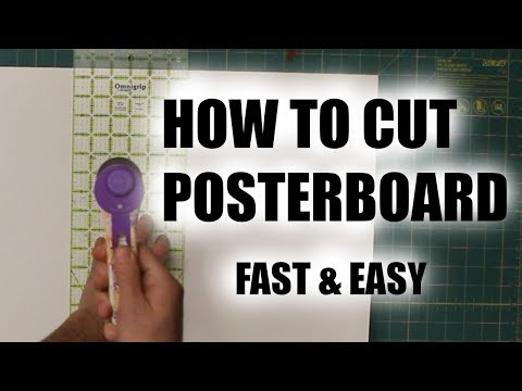 HOW TO USE A CUTTING MAT   CUT POSTER BOARD EASILY