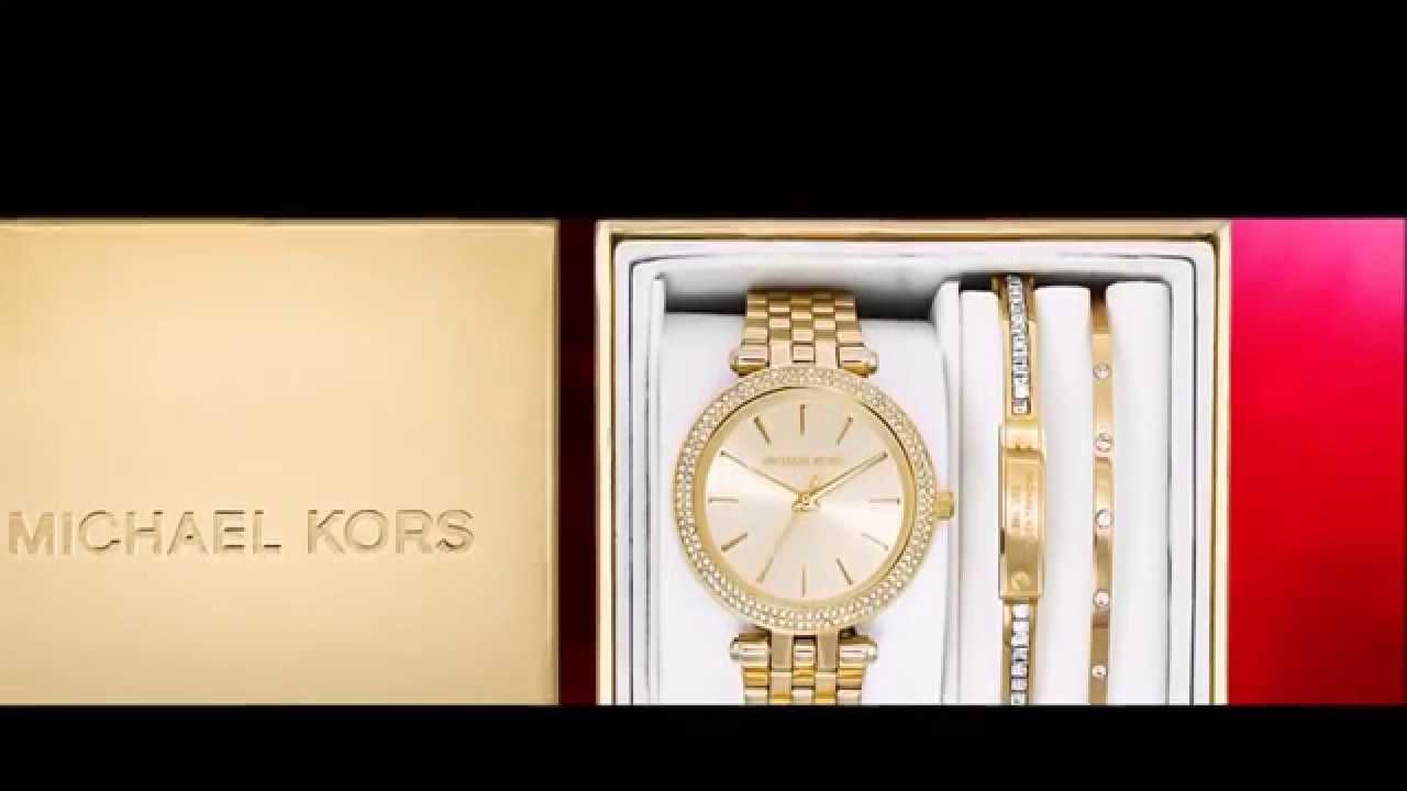 Relógio MICHAEL KORS Gift Set MK3430 - MK 3430 - YouTube