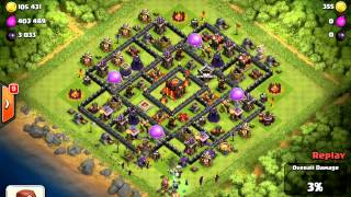 clash of clans ¨defense against Mohammed Maher second account Sa3ed 7edded¨
