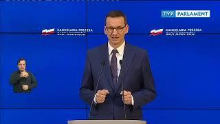 Konferencja premiera Mateusza Morawieckiego - 19 czerwca 2020 r.