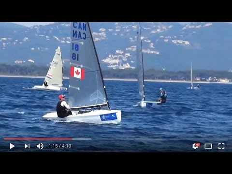 Finn Class at the World Cup Series in Hyeres, France - Day 1