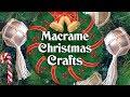 Macrame Christmas Crafts and DIY ideas ❄️🎅🎄🌟