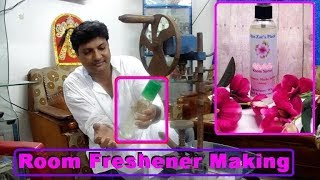 How to make room freshener in English and Hindi.