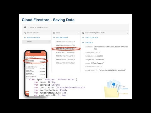 9 5 Implementing the Cloud Firestore database and Saving Data – MVC