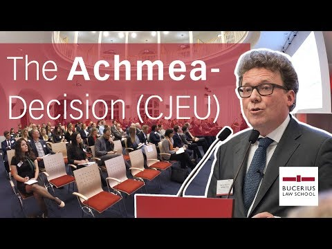 The Achmea-Decision of the CJEU (Luther Dispute Resolution L