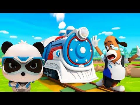 Super Rescue Team On The Railroad   Super Panda Cartoon   Super Train   Kids Song   BabyBus