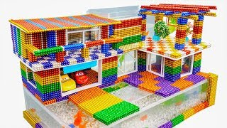 D Y   How To Build Amazing Mansion Aquarium From Magnetic Balls Satisfying   Magnet Balls