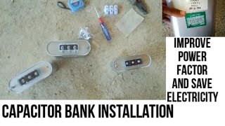 How to install capacitor bank in industry improve power factor in Hindi Urdu