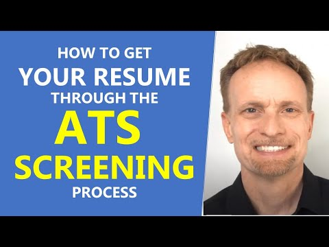 How To Get Your Resume Through ATS Screens