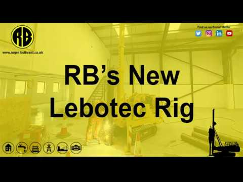 "RB takes delivery of a new ""Lebotec"" electric drop hammer rig..."