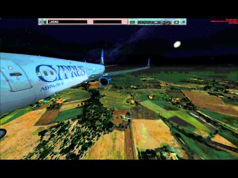 Cyprus Airways 5B-DKS PMDG 738-800 NGX Approach at HLLT Tripoli