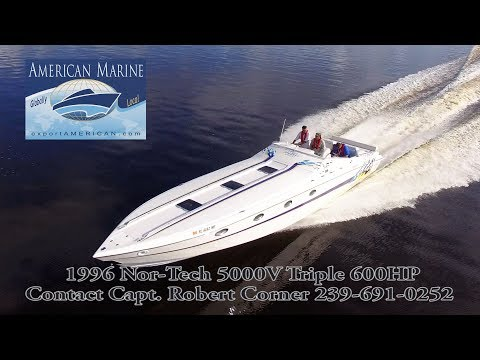 1996 50' NorTech 5000V 1800HP HD By American Marine
