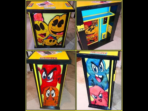 Commissioned Pac-Man Arcade1up Table/Podium from Durante Designs