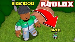 - Becoming the smallest Roblox player ever...