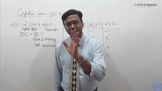 Any one can learn income tax with us : Capital gain u/s 45(1) : Pend drive classes available
