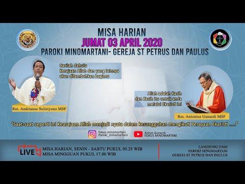 (back Up) Misa Harian 3 April 2020 - Paroki Minomartani - Gereja Santo Petrus Dan Paulus