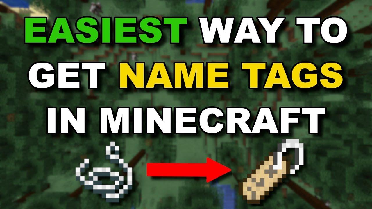 (11.111+) EASIEST WAY TO GET NAMETAGS IN MINECRAFT (Best Methods)