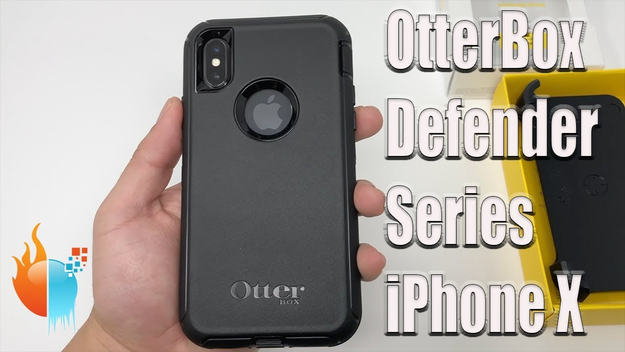 iPhone X OtterBox Defender Series Case Black Review - YouTube 2713923a74af