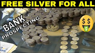 FREE SILVER FOR ALL - HOW TO - Coin Roll Hunt # 1 ( AMAZING RESULTS )