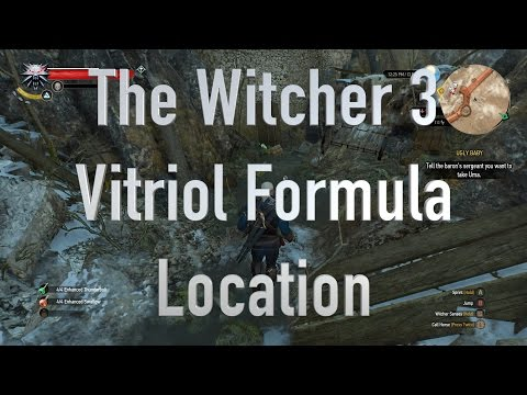 The Witcher 3 Vitriol Formula Location